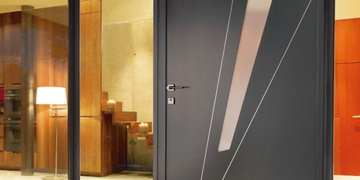 Portes d entr e aluminium afc fen tres - Remplacer une porte d entree ...